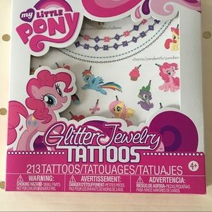 My Little Pony Other - 🆕 {My Little Pony} Temporary Glitter Tattoos